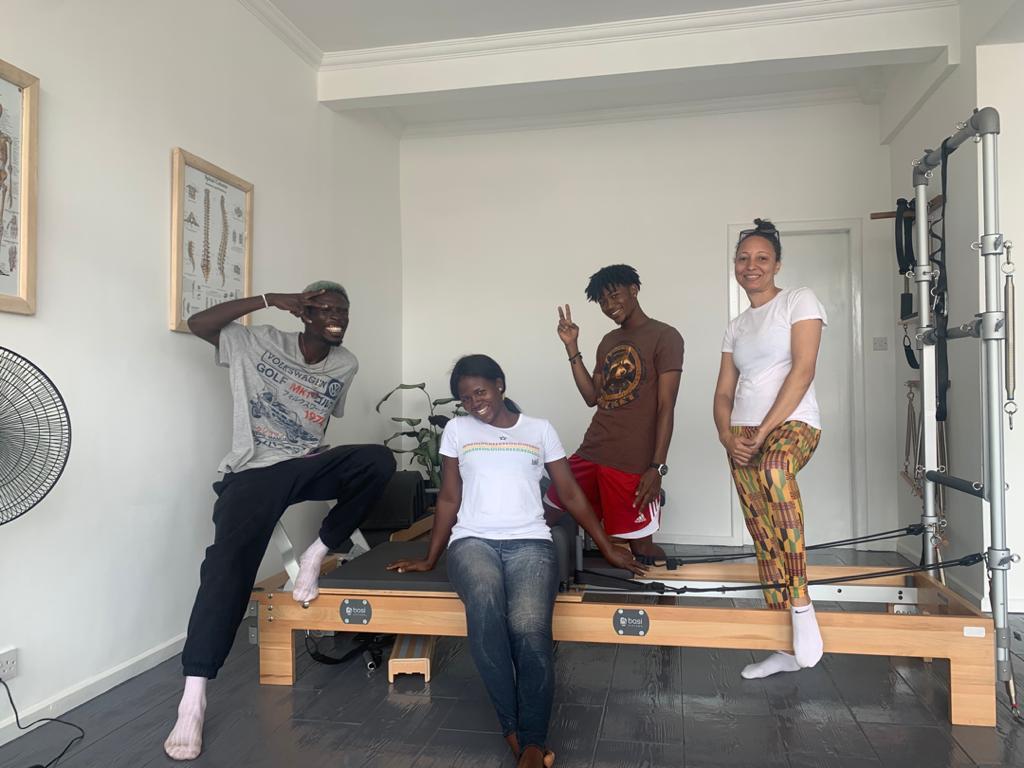 Lokko House family at the pilates studio